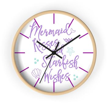 Mermaid Kisses Wall clock