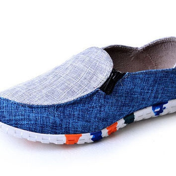Mens Unique Slip-On Loafers Casual Shoes