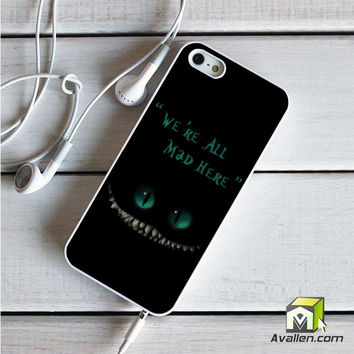 We're All Mad Here Chesire Cat iPhone 5|5S case by Avallen