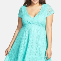 Plus Size Women's Jessica Simpson 'Kaitleen' Lace Fit & Flare Dress