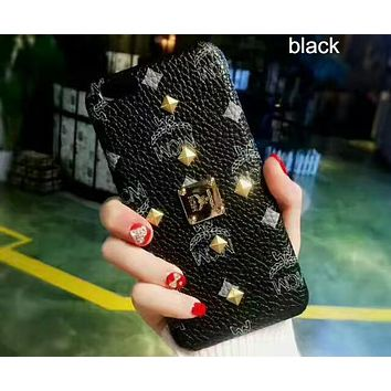 MCM Fashion Trend for iPhone 6/7/8/X Phone Case Cover F-OF-SJK Black