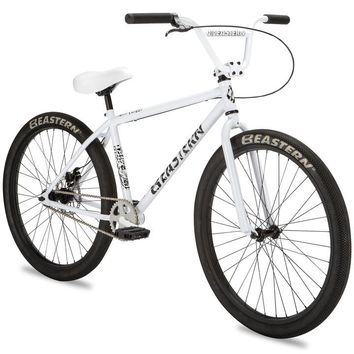 "Eastern Growler 26"" White Complete Cruiser Bike"