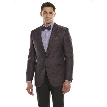 Van Heusen Studio Modern-Fit Purple Paisley Sport Coat - Men, Size: