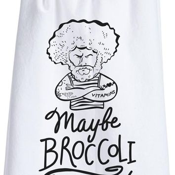 Maybe Broccoli Doesn't Like You Either Dish Towel
