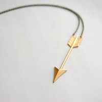 Gold Arrow Necklace  Free Shipping in the US by SPARKLEFARM