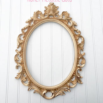Baroque Picture Frame - French Frame - Oval Picture Frame - Wedding Frame - Nursery Frames - Backless Frame - Ornate Frame - Shabby Chic