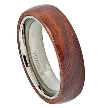 Anium Ring Wedding Band Wood Rings His Hers Promise