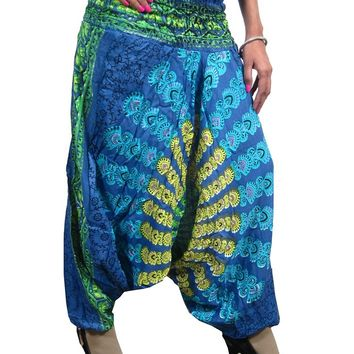 Alibaba Boho Hippie Trippy Gypsy Harem Pants Belly Dance Mandala Romper