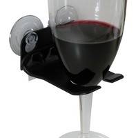 WaveHooks Bathtub Wine Glass Holder