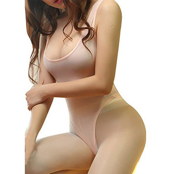 2016 New Multicolor High Cut Leotard for Women One Piece Sleeveless Thong Bodysuit Sexy Lingerie for Women Not Open Crotch