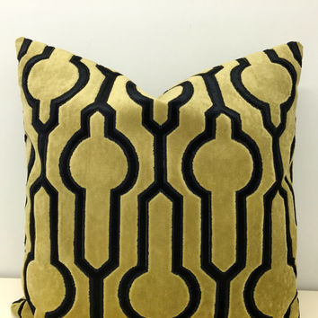 Mustard Velvet Pillow Cover, Velvet Pillow, Velvet Cushion, Mustard Pillow, Decorative Pillows, Mustard Velvet Couch Throw Pillow Covers