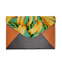 Banana clutch,leather clutch bag,personalise clutch bag,women handbag,oversize clutch bag,file folder bag,gift for her,birthday gift