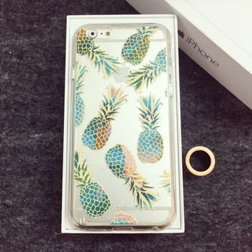 Pineapple Pattern Summer Fashion Style Lovely Women and Men Gift -  iPhone 6/6S Case = 4827963268