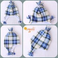 Baby Boy Winter Hat Infant Toddler Fleece Hat Plaid Hat Cap Snow Hat Winter Hat Polar Bear