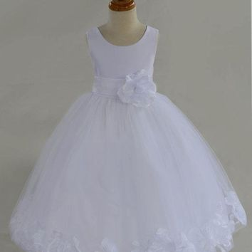 Baby Girls Pure Luxury Bottom Pattern Party Wedding Dress Big Bow Ball Gown Princess Dress For Girls Costume 3-8 Years Old