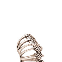 FOREVER 21 Chevron Ring Set Burn.S