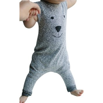 Baby Girls Boys Bear Jumpsuit Cotton Cartoon Romper