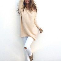 Women Winter Fashion Long Sleeve Knitted Sweater