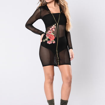 Tryna Work It Out Dress - Black