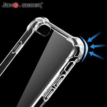 Shockproof For iPhone 5 6 7 8 X 10 Case Cover Plus Best Full Phone Protective Silicone Clear Accessories for apple iphone