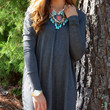 Time Well Wasted Charcoal Long Sleeve Dress