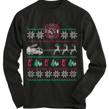Fire Engine Ugly Christmas Sweater