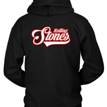 The Rolling Stones Logo Seventeen Hoodie Two Sided
