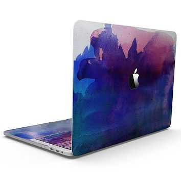 Dark Absorbed Watercolor Texture - MacBook Pro with Touch Bar Skin Kit