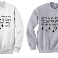 NEW - Ed Sheeran Kiss Me Lyrics Crewneck Sweatshirt (PREORDER)