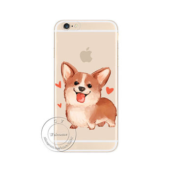 Cute Corgi Phone Case For iPhone 7 7Plus 6 6s Plus 5 5s SE