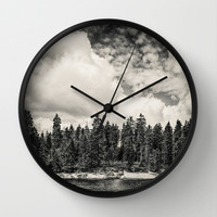Far Away Clouds Passing By  Wall Clock by Tordis Kayma