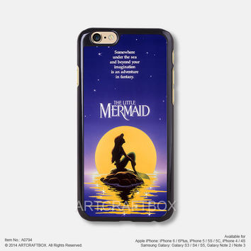 Little Mermaid Disney Movie Poster iPhone Case Black Hard case 794