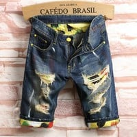 2017 Brand Men's Jeans Fashionable Shorts Men's Clothing Sale Summer Brand Male's Fashion Shorts & Mens Denim Shorts