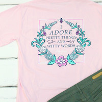 Pretty Things & Witty Words Tee {Blossom}