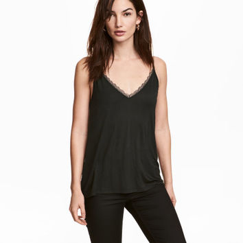 Camisole Top with Lace Detail - from H&M