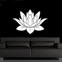 Lotus Flower Wall Decal Vinyl Sticker Yoga Studio Decor Home Interior Design Bedroom Bathroom Kitchen Art Mural MN752