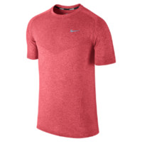 Nike Dri-FIT Knit Short-Sleeve Men's Running Shirt - Hyper Punch