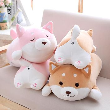 36cm Cute Fat Shiba Inu Dog Plush Toy Stuffed Soft Kawaii Animal Cartoon Pillow Lovely Gift for Kids Baby Children Good Quality