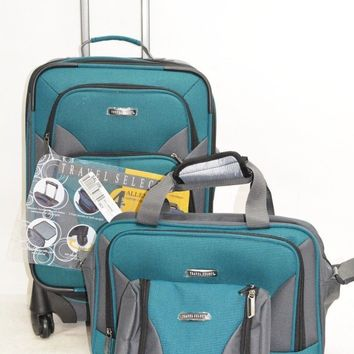 $260 NEW Travel Select Allentown 3 Piece Set Expandable Spinner Luggage Suitcase
