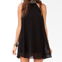 Bejeweled High Neck Dress