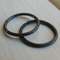 Black Hoop Earrings // Men's Hoop Earring // Black Cartilage Earrings // Cartilage For Men // Helix Hoop Earring