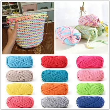 100g Woven Thread Cotton Cloth Wool Yarn Hand Knitting Yarn Crocheted Blanket ROC