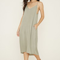 Gauze V-Neck Cami Midi Dress | Forever 21 - 2000186964