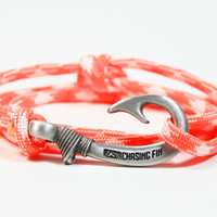 Creamsicle Fish Hook Bracelet