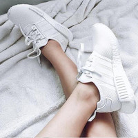 """Adidas"" NMD Trending Fashion Casual Sports Shoes white"