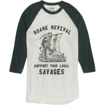 Roark Revival Savages Raglan T-Shirt - 3/4-Sleeve - Men's