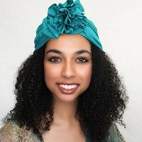 Chemo Hat |Flower Turban|Turquoise Teal