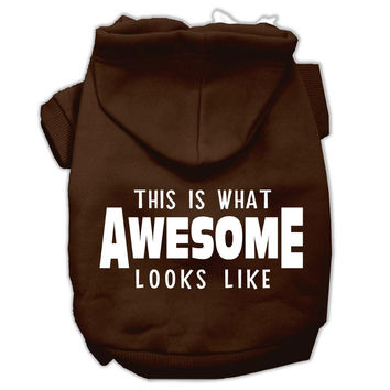 This is What Awesome Looks Like Dog Pet Hoodies Brown Size XS (8)