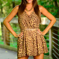 Wild Heart Romper, Cheetah