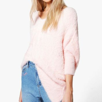 Katie Supersoft Fluffy Jumper | Boohoo